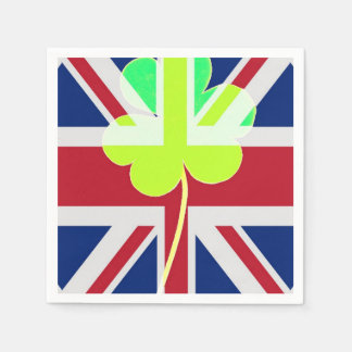 Guardanapo De Papel Trevo britânico irlandês St Patrick Reino Unido do