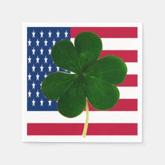 Guardanapo De Papel Trevo irlandês St Patrick do trevo da bandeira