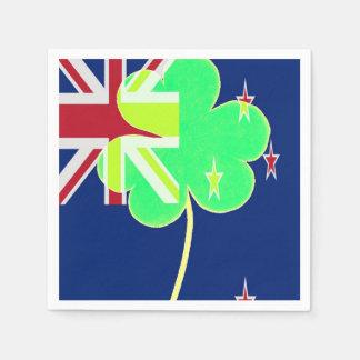 Guardanapo De Papel Trevo St Patrick do trevo da bandeira de Nova