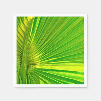 Guardanapo de papel tropicais com design em folha
