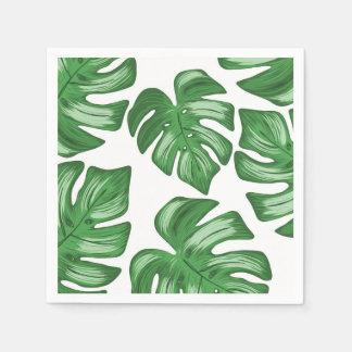 Guardanapo de papel tropicais do Philodendron