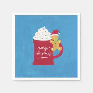 Guardanapo De Papel Um copo do Feliz Natal