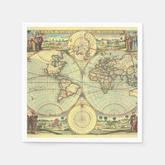 Guardanapo De Papel Um mapp novo do mundo - atlas