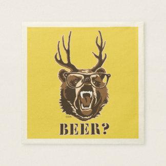 Guardanapo De Papel Urso, cervos ou cerveja