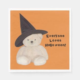 Guardanapo De Papel Urso de ursinho peluches que veste um chapéu preto