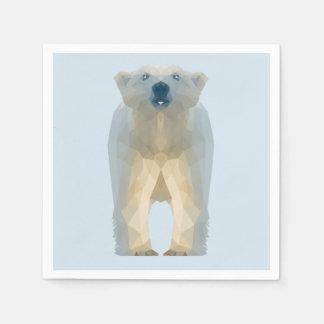 Guardanapo De Papel Urso polar do baixo bebê poli bonito