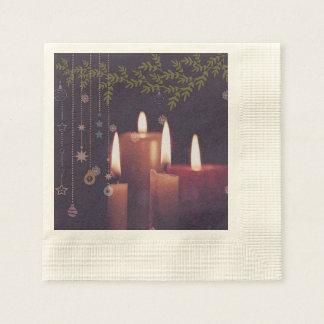 Guardanapo De Papel velas do Natal