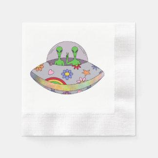 Guardanapo De Papel Vêm no UFO da paz