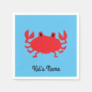Guardanapo De Papel Vermelho do caranguejo do mar