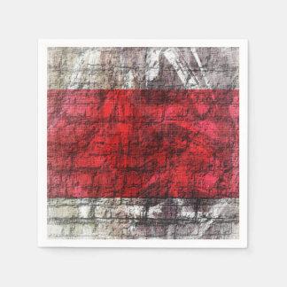 Guardanapo De Papel Vermelho e listras Textured cinzas