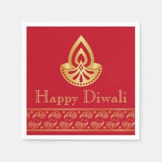 Guardanapo De Papel Vermelho & partido indiano de Diwali do design do