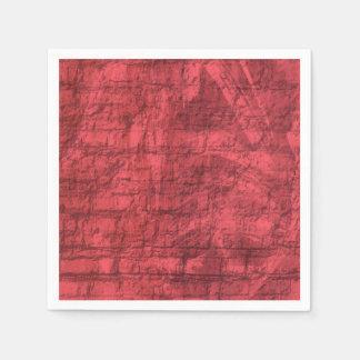 Guardanapo De Papel Vermelho Textured