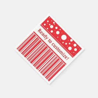 Guardanapo De Papel Vermelho & White Christmas