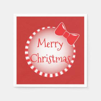 Guardanapo de papel vermelhos do Feliz Natal | do