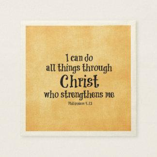 Guardanapo De Papel Verso da bíblia: Eu posso fazer todas as coisas