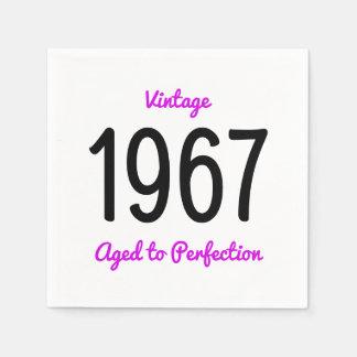Guardanapo De Papel Vintage 1967 envelhecido à festa de aniversário da
