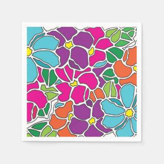 Guardanapo De Papel Vitral floral vibrante