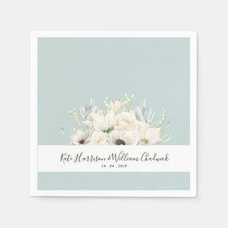 Guardanapo de papel Wedding branco de flores
