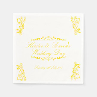 Guardanapo de papel Wedding com decorações