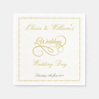 Guardanapo de papel Wedding com quadro & gráfico