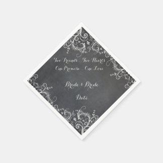 Guardanapo de papel Wedding do design alegre do
