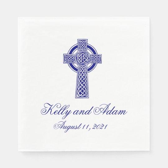 Guardanapo de papel Wedding personalizado de cruz