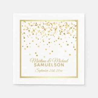 Guardanapo De Papel Wedding personalizado dos confetes do ouro