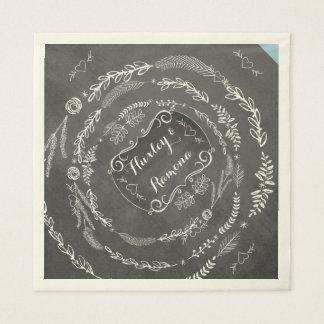 Guardanapo de papel Wedding personalizados do