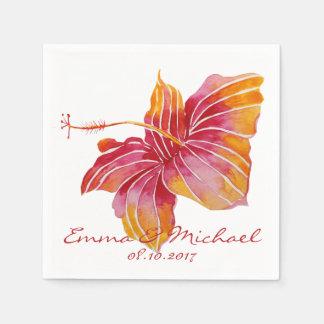 Guardanapo de papel Wedding personalizados flor de