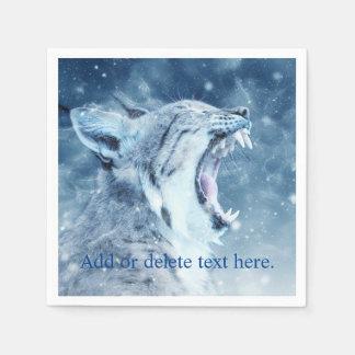 Guardanapo De Papel Wildcat na neve