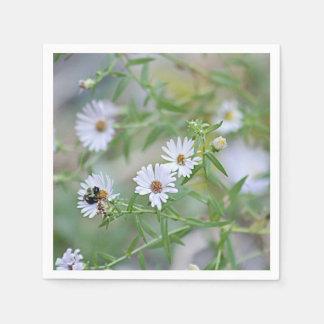 Guardanapo De Papel Wildflowers brancos