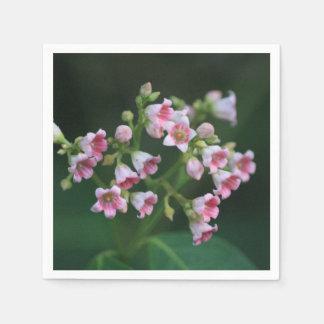 Guardanapo De Papel Wildflowers cor-de-rosa minúsculos