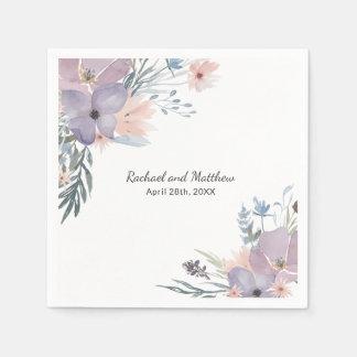 Guardanapo De Papel Wildflowers florais do prado violeta que Wedding