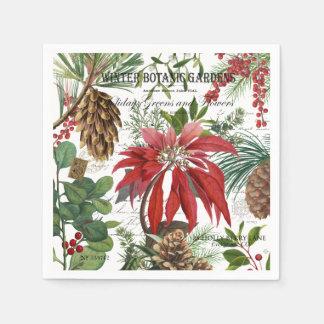 Guardanapo De Papel Wintergarden moderno do vintage floral