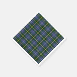 Guardanapo De Papel xadrez de Tartan azul de Nova Escócia dos