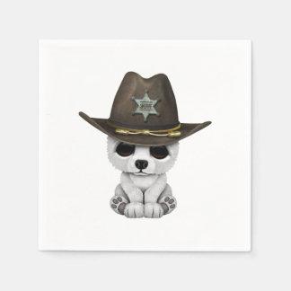 Guardanapo De Papel Xerife bonito de Cub de urso polar do bebê