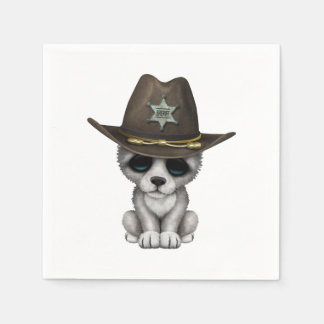 Guardanapo De Papel Xerife bonito do lobo do bebê