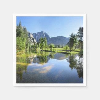 Guardanapo De Papel Yosemite Falls do rio de Merced - vale de Yosemite