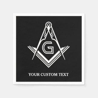 Guardanapo & decorações maçónicos personalizados
