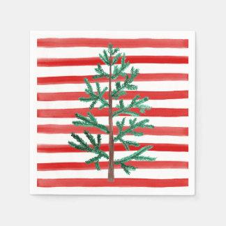Guardanapo descartáveis da árvore de Natal