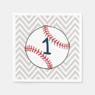 Guardanapo do aniversário do tema do basebol