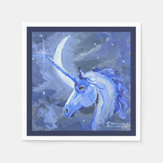 Guardanapo do azul do unicórnio da lua