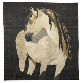 Guardanapo do cavalo branco