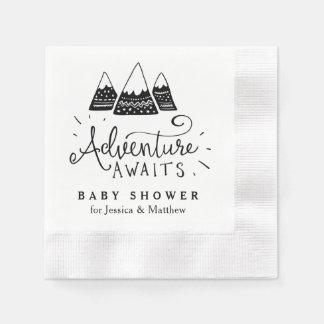 Guardanapo do chá de fraldas da aventura com