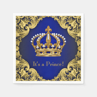 Guardanapo do chá de fraldas do príncipe Menino