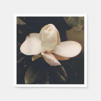 Guardanapo do cocktail com um design da flor da