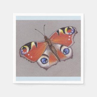 Guardanapo do cocktail da borboleta de pavão/luz -