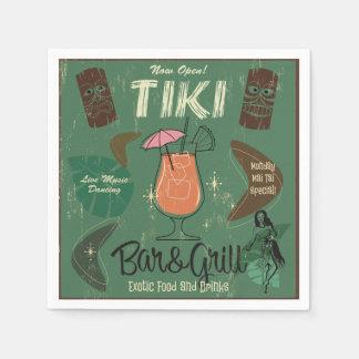 Guardanapo do cocktail de Tiki Bar&Grill