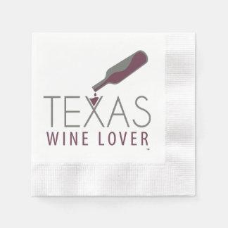 Guardanapo do cocktail do amante de vinho de Texas