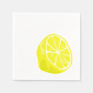 Guardanapo do cocktail do limão meios